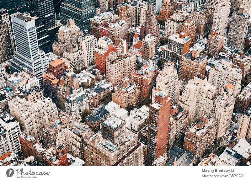 Luftaufnahme von Manhattan, New York City, USA. Antenne Großstadt New York State Gebäude Metropole Haus Büro Appartement Architektur wohnbedingt nyc reisen