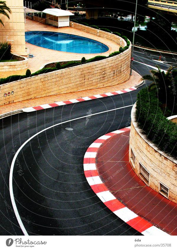 GP von Monaco Straße Autorennen Architektur Schwimmbad Rennsport Kurve Wende Monaco Formel 1 Monte Carlo