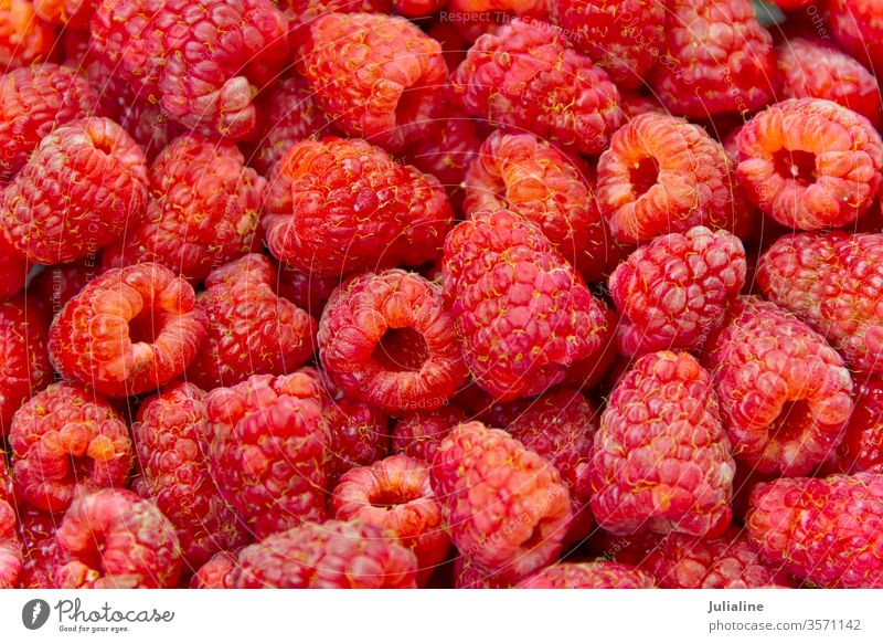 Hintergrund Himbeere Himbeeren süß Beeren Lebensmittel Vegetarier rot Gesundheit roh organisch Frische Gartenmaterial