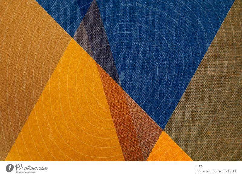 Abstrakte und grafische geometrische Formen in blau und gelb gemoetrisch abstrakt Kunstwerk Hintergrund eckig überlappen Strukturen & Formen Design Muster