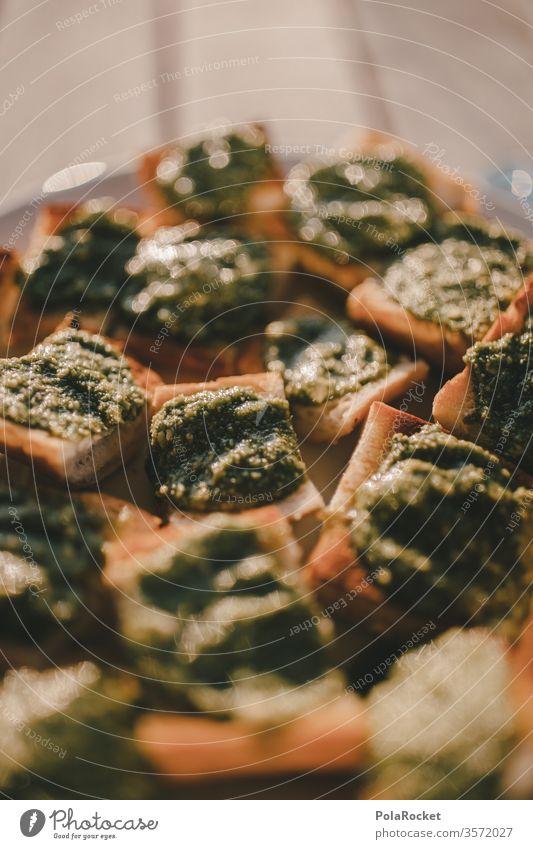 """#As# Basilikum-Pesto-Snack Häppchen"""" lecker Imbiss Vegetarische Ernährung Lebensmittel Farbfoto Mittagessen Gesundheit frisch grün Italienische Küche"""