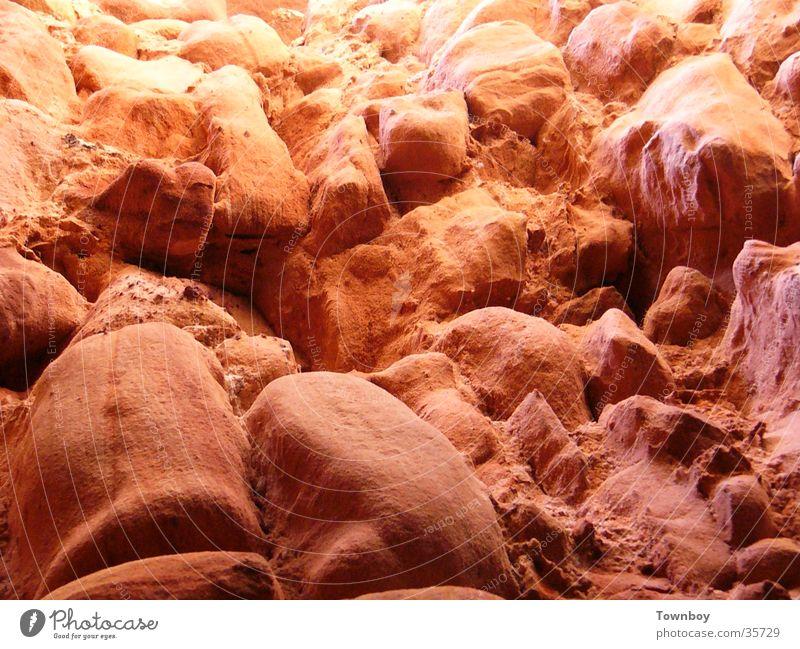 Alte Steinmauer Wüste Mond historisch Mars Naturstein