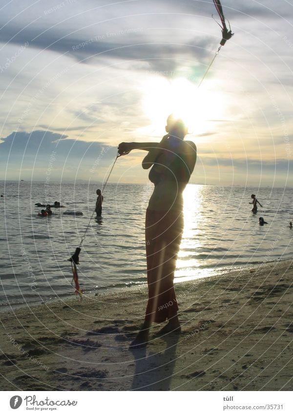 thailand Frau Meer Strand elegant Asien