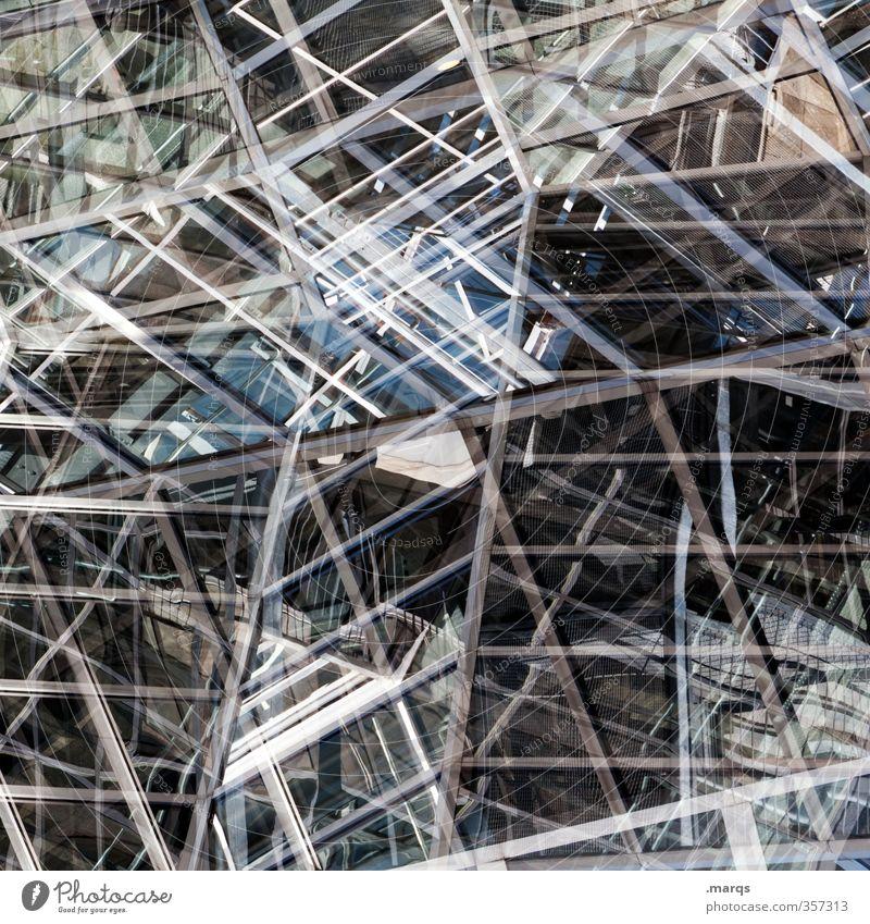 Glashaus Fenster Architektur Stil Linie Metall Fassade Design elegant modern Perspektive verrückt einzigartig Futurismus trendy chaotisch