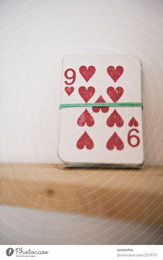 neun Herzen rot Freude Liebe Spielen Freizeit & Hobby Erfolg Ziffern & Zahlen Zeichen Sucht Entertainment verlieren Spielkarte Ornament 9 Spielkasino