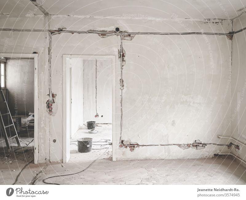 Work in Progress - Umbauarbeiten, Baustelle Umbauen umbauarbeiten Umbauten Raum Kabelschlitze Architektur Innenarchitektur malerarbeiten Elektroarbeiten