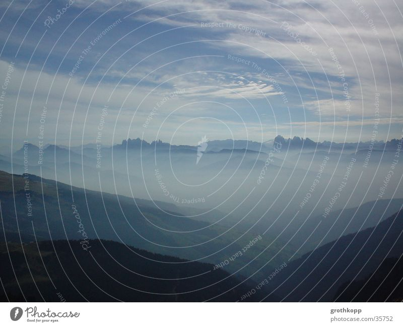 Berglandschaft II Nebel Wolken Schleier Berge u. Gebirge