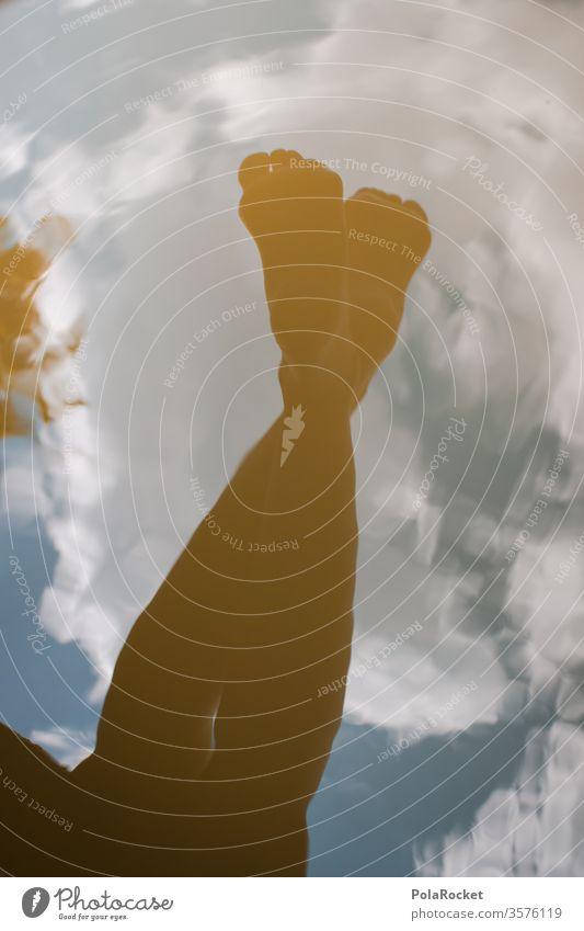 #A10# Sommertag XVI Barfuß Spiegelung Spiegelung im Wasser Spiegelung der Wolken im See Spiegelungen Reflektion Sommerurlaub sommerlich Sommerferien Sommerkleid