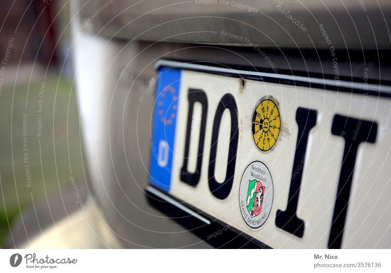 Do it ! do it do it yourself PKW Nummernschild Fahrzeug Autokennzeichen kfz kennzeichen heimwerken Schilder & Markierungen KFZ Dortmund Nordrhein-Westfalen