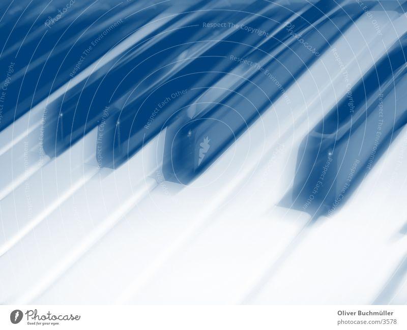 Keyboard in blue 2 weiß blau schwarz Freizeit & Hobby berühren Klaviatur Klavier Tasteninstrumente