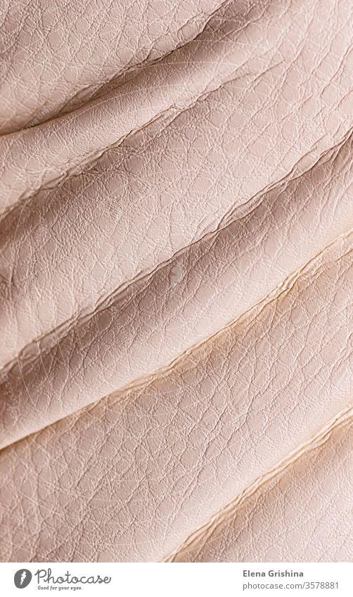 Natürliche beige Lederstruktur. Textur abstrakt vertikal natürlich Material Muster Hintergrund Oberfläche Design texturiert Tier roh rau Gewebe Textil Farbe