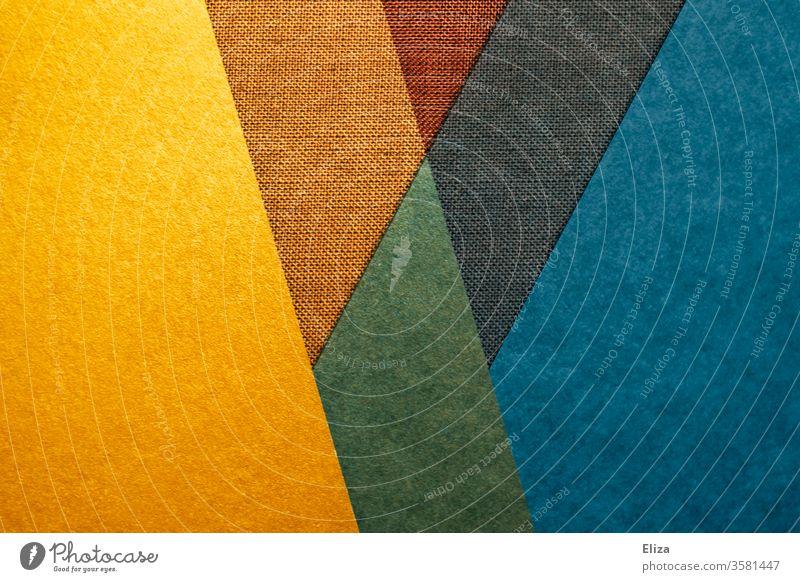 Abstrakte, grafische, geometrische Flächen und Formen in bunten Farben abstrakt Forman W eckig kantig knallig experimentell Struktur textur graphisch mehrfarbig