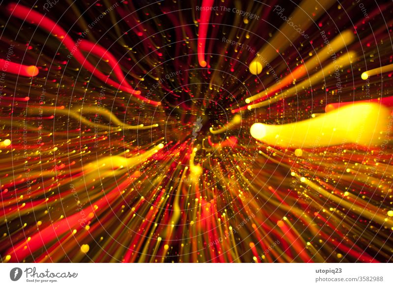 Ströme Energie Licht Streifen Unendlichkeit Raum Tiefenschärfe Strahlen Bewegung Langzeitbelichtung Geschwindigkeit Lichterscheinung Bewegungsunschärfe