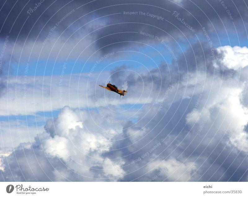 himmelfahrtskommando! Himmel Sonne blau Wolken Landschaft Graffiti Flugzeug Luftverkehr Segeln Gewitter