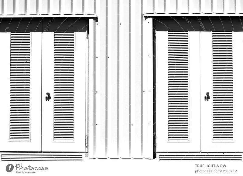 Gewidmet den Liebhabern sauberer, streng und klar strukturierter Haus Fassaden in schneeweiss, mit  waagerechter und senkrechter Linienführung und gerne feinem Schattenspiel, aber absolut frei von Tags und Graffiti