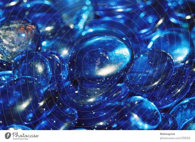 Blaue Steine blau kalt Stein Glas Hintergrundbild rund Dekoration & Verzierung durchsichtig Glätte Kieselsteine Mineralien
