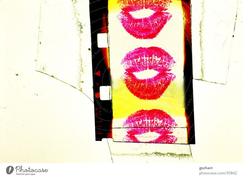 super-8 rosa Freizeit & Hobby Mund Filmmaterial Lippen Küssen Schminken Lippenstift Kussmund Super 8