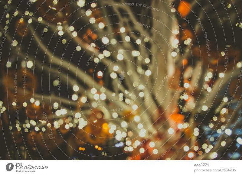 Bokeh Jahrgang abstrakt Kunst Hintergrund schwarz Postkarte Weihnachten Farbe Dekoration & Verzierung defokussiert Design Glamour Glitter glühen gold Glück