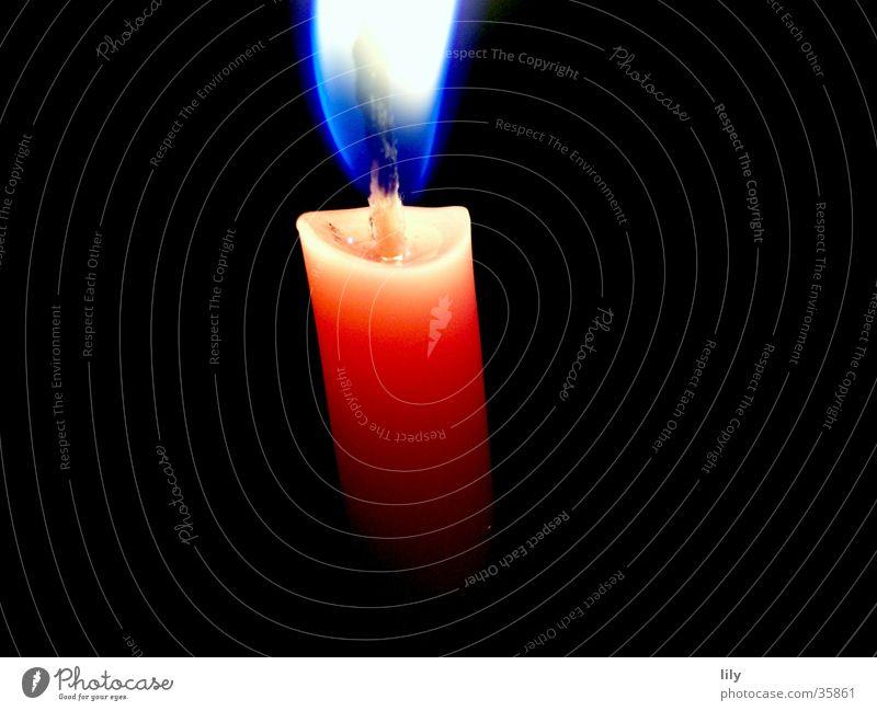 silent flame Weihnachten & Advent blau ruhig Wärme rosa Brand Kerze Kitsch Physik heiß Flamme friedlich