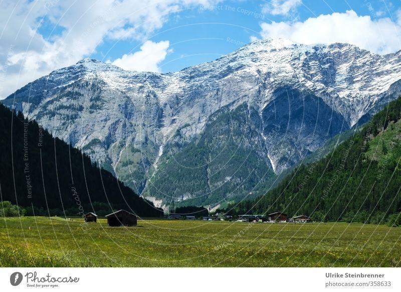 Eingebettet / AST 6 Inntal Himmel Natur Ferien & Urlaub & Reisen Pflanze grün Sommer Baum Erholung Landschaft Wolken Haus Berge u. Gebirge Umwelt Wiese Gras