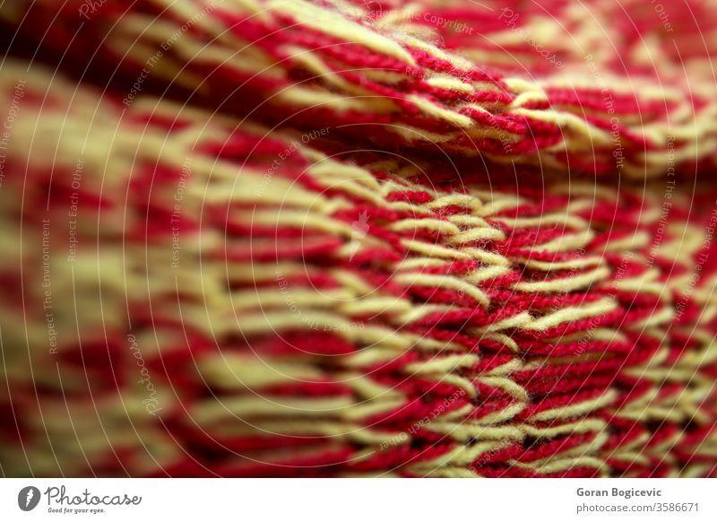 Detail der handgefertigten Stricktextur abstrakt Hintergrund Nahaufnahme Stoff Kleidung Bekleidung Konzept Handwerk Design Detailaufnahme Gewebe Mode Sehne