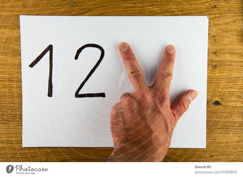 1 2 3 - bis drei Zählen / alle guten Dinge sind drei Zahlen Hand zählen ertens zweitens drittens Finger besonders kreativität Zähler Mathematik Schule Zeichnung