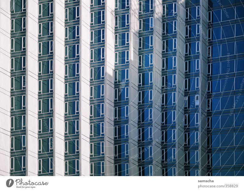 Fensterreihen Stadt Haus Fenster Wand Architektur Mauer Gebäude Business Arbeit & Erwerbstätigkeit Fassade groß Hochhaus hoch Turm Bauwerk Bankgebäude