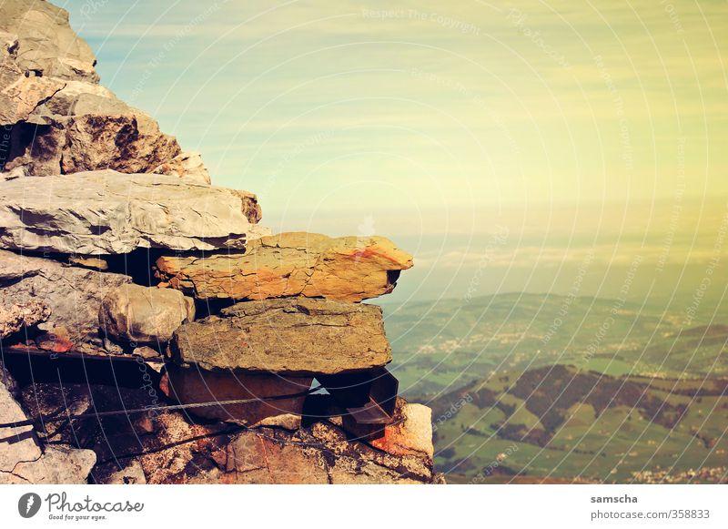 Fernweh Himmel Natur Ferien & Urlaub & Reisen Sommer Landschaft Ferne Berge u. Gebirge Umwelt Freiheit Stein Felsen Tourismus Wetter wandern Aussicht Ausflug