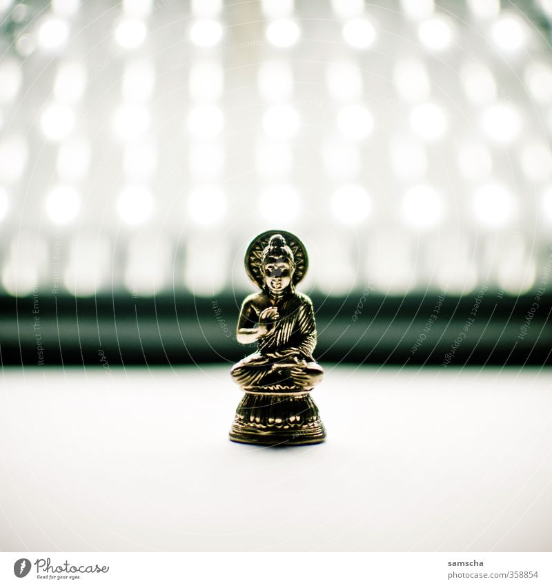 Buddha Erholung ruhig Religion & Glaube Lampe gold Gold Hoffnung Zeichen Kultur Frieden Verstand Statue China Indien Meditation