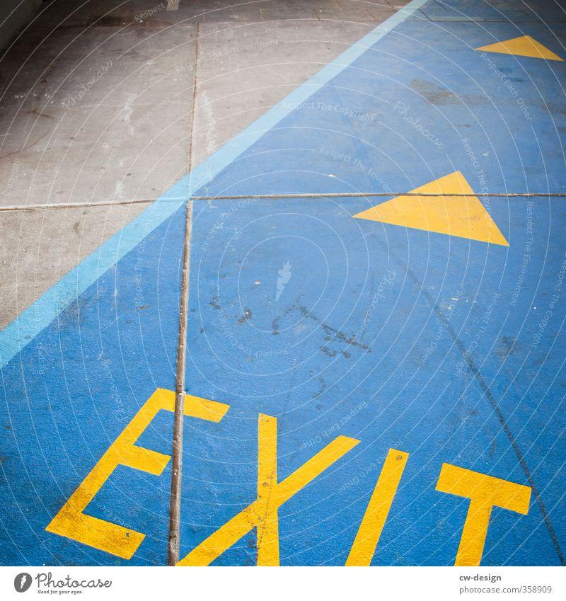 EXIT - through the gift shop Zeichen Schriftzeichen Ornament Schilder & Markierungen Hinweisschild Warnschild Linie Pfeil leuchten Ausgang Farbfoto