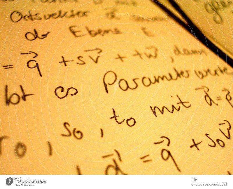 liebes (Mathe-) Tagebuch... lesen Mathematik Zettel Notizbuch Buch Wissenschaften Schriftzeichen schreiben lernen Parameter Vektoren Merksatz Studium