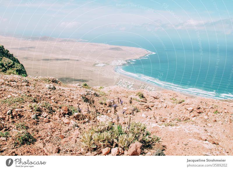 Mirador de Ermita de las Nieves in Lanzarote, Spanien Kanarische Inseln Kanaren spanische Inseln mirador Berge u. Gebirge Landschaft Natur Himmel Wellen