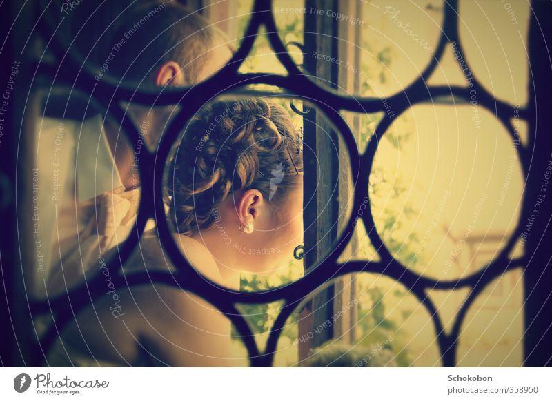 window Reichtum elegant Stil schön Körperpflege Haare & Frisuren Wohnung Fenster Fensterrahmen Fensterblick Veranstaltung Hochzeit Paar Partner Ohr