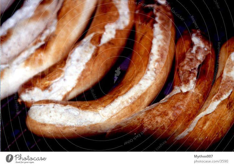 :::: Wüüüüs Ernährung Grill braun Wurstwaren lecker Grillen fertig Grillrost Würstchen Holzkohle