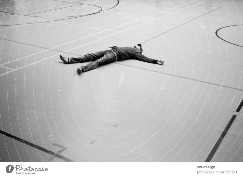 1000th - Chillen Mensch Jugendliche Mann Junger Mann Erholung ruhig 18-30 Jahre Erwachsene Leben Sport Lifestyle Spielen maskulin träumen Zufriedenheit liegen