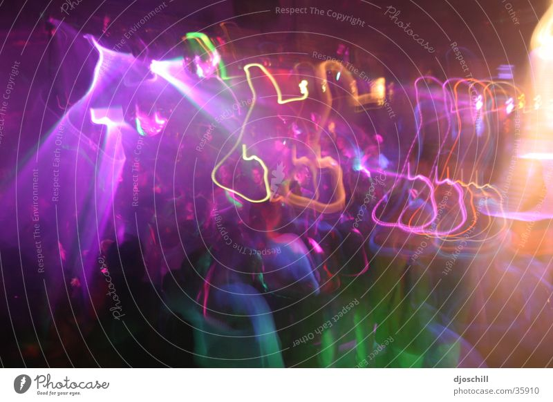Parteyyyyy Farbe Party Tanzen Feste & Feiern Disco Club Handzettel