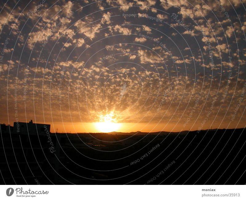 sundown over GranCanaria Sonne Wolken Europa Gran Canaria