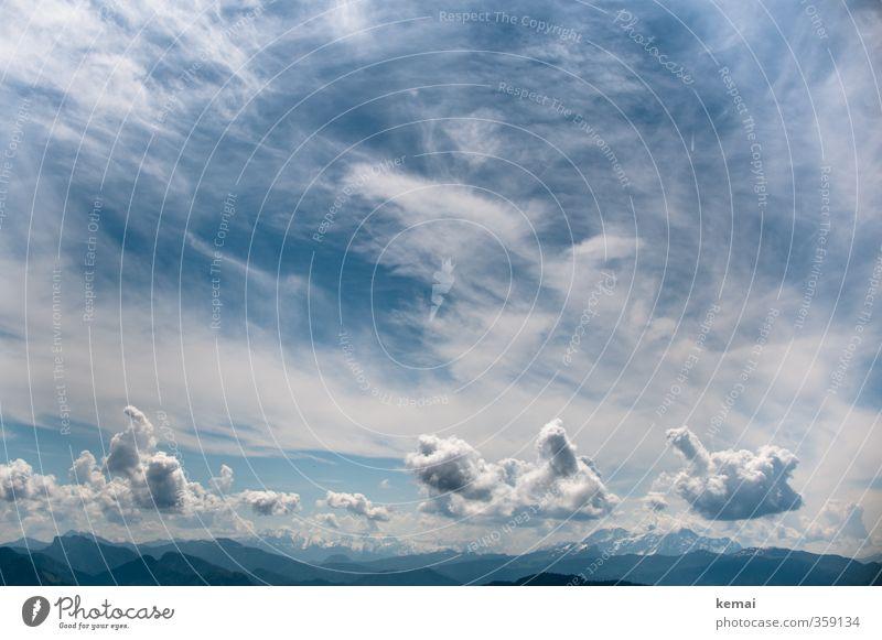 AST6 Inntal | Blauweiße Bergwolkenwelt Himmel Natur blau schön weiß Sommer Landschaft Wolken Umwelt Ferne Berge u. Gebirge Felsen Luft Klima Schönes Wetter hoch