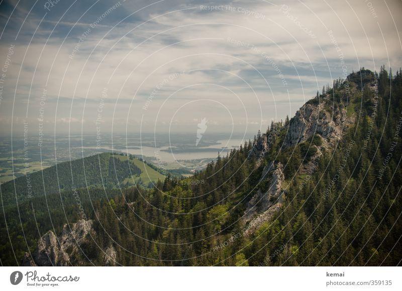 AST6 Inntal | Ausdehnungen Umwelt Natur Landschaft Wasser Himmel Wolken Sommer Schönes Wetter Baum Hügel Felsen Alpen Berge u. Gebirge Gipfel See Chiemsee