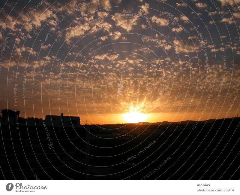 sundown Gran Canaria Sonne Wolken