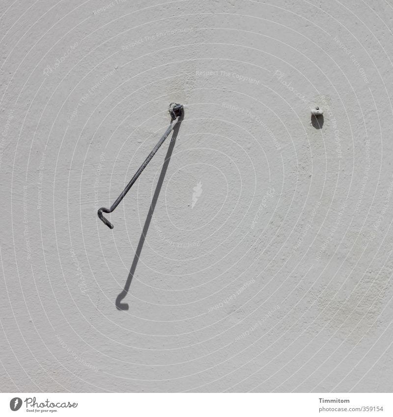 Gedanken... ruhig schwarz grau Metall ästhetisch warten einfach festhalten fest graphisch Haken Öse