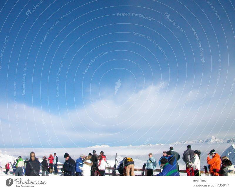 Sölden_Panorama Sport Berge u. Gebirge groß Skifahren Österreich Wintersport Ötztal Sölden