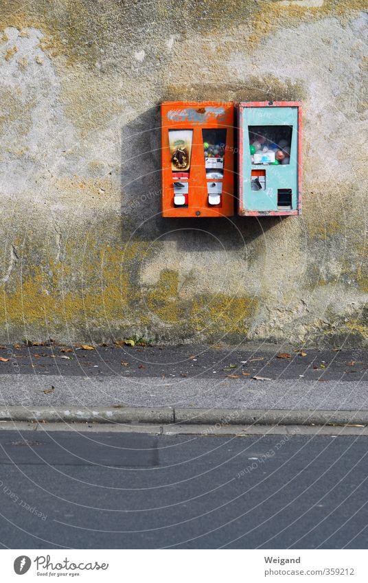 6 Richtige Spielzeug Kitsch Krimskrams kaufen alt Coolness retro orange Leidenschaft sparsam Werbung Kaugummi Automat Kaugummiautomat Pfennige Cent Geldmünzen