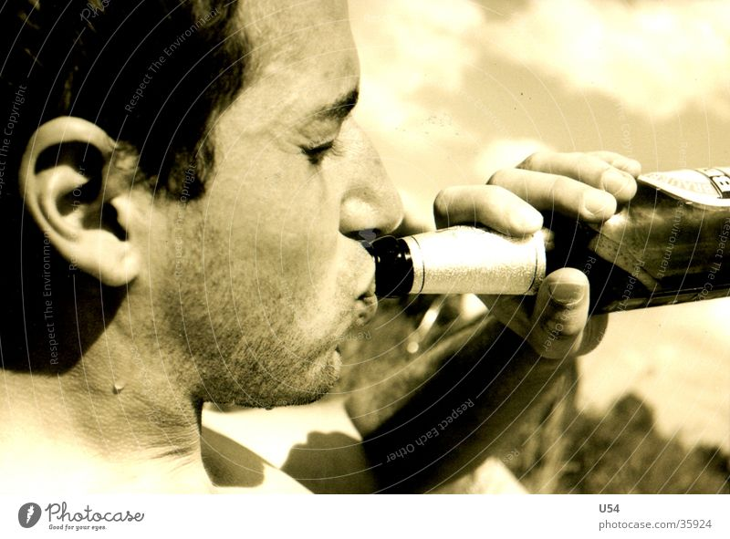 Sommer Mensch Mann Sonne Sommer Feste & Feiern Flasche Vatertag
