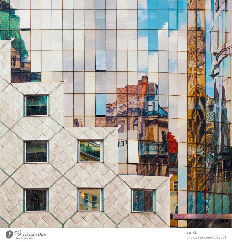 Wien, Stock-im-Eisen-Platz Stadtzentrum Gebäude Bauwerk glänzend Glas modern Farbfoto Außenaufnahme Strukturen & Formen Menschenleer Tag Sonnenlicht Fassade