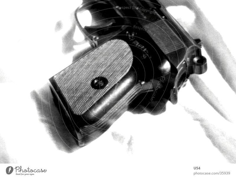 Unscharf Tod gefährlich bedrohlich obskur Pistole Spitzel Waffe Nationale Sicherheit