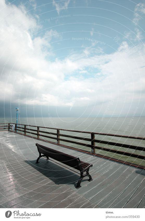 nach dem Regen Himmel Ferien & Urlaub & Reisen Wasser Erholung Wolken Ferne Küste Zeit Horizont Stimmung Idylle Tourismus Schönes Wetter nass Perspektive Brücke