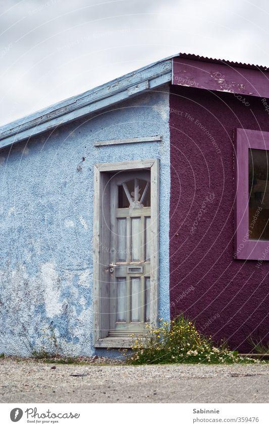 [Skye 06] Kyle of Lochalsh Ferien & Urlaub & Reisen Tourismus Wohnung Eingang Isle of Skye Schottland Dorf Fischerdorf Haus Hütte Bauwerk Gebäude Architektur