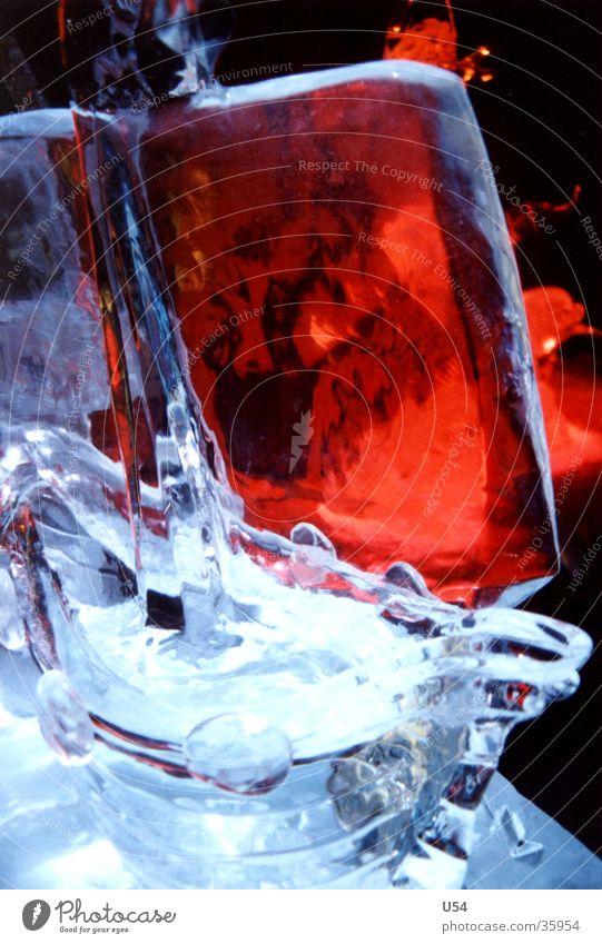 Eis #4 Skulptur kalt Winter Licht obskur ICE-World Reflexion & Spiegelung