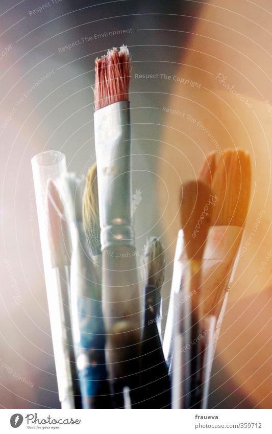 Pinsel Holz Kunst Gemälde Künstler Kunstwerk Maler Reflexion & Spiegelung Gegenlicht Malutensilien